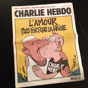 «L'amour plus fort que la haine» – Charlie Hebdo